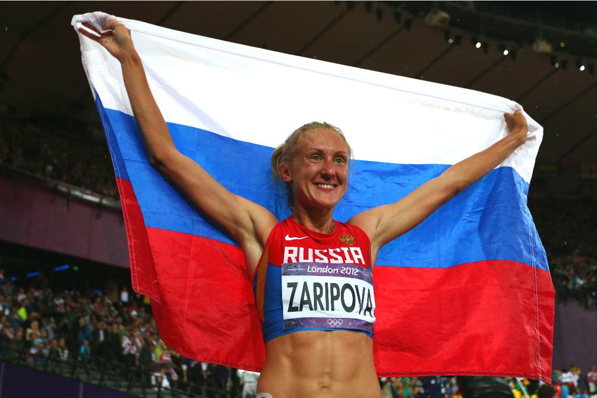 Yulia Zaripova, campeona olímpica de 3.000 obstáculos en los Juegos de Londres. (Getty)