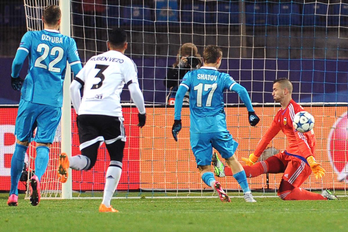 Shatov fue el encargado de abrir el marcador (Foto: AFP)