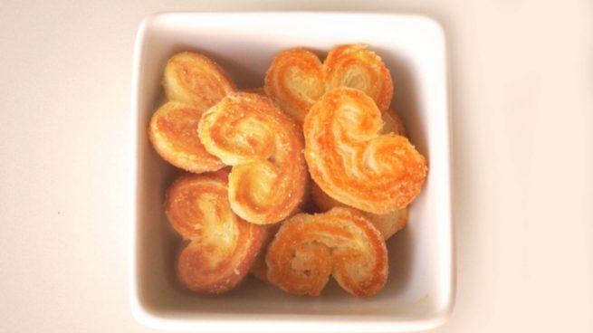 Palmeritas de azúcar sin gluten