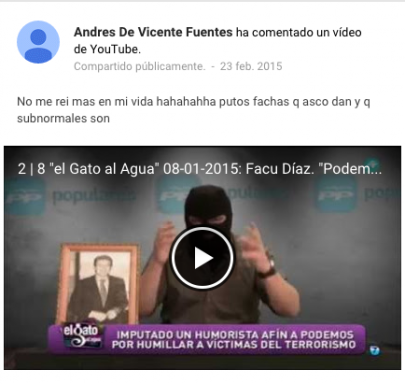 El agresor de Rajoy en 2014: