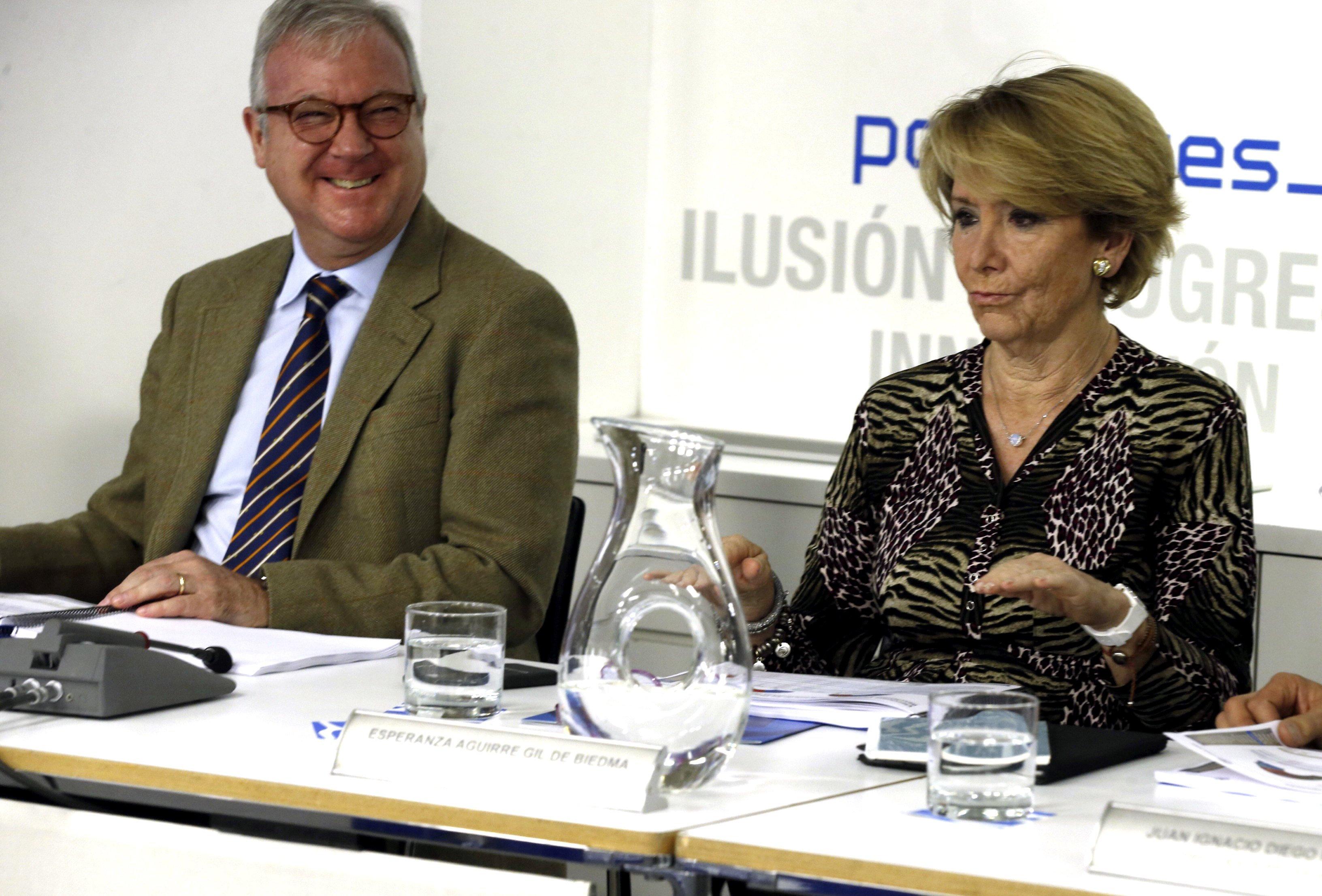 Esperanza Aguirre en una reunión del PP madrileño. (FOTO: EFE)