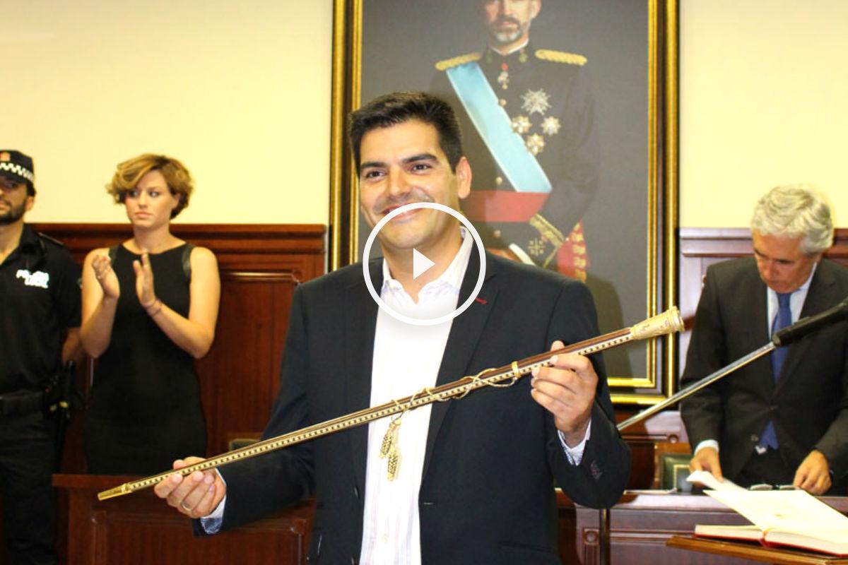 José María Fernández, ex alcalde por Ciudadanos de Espartinas, el día de su investidura. (Foto: Ayuntamiento de Espartinas)