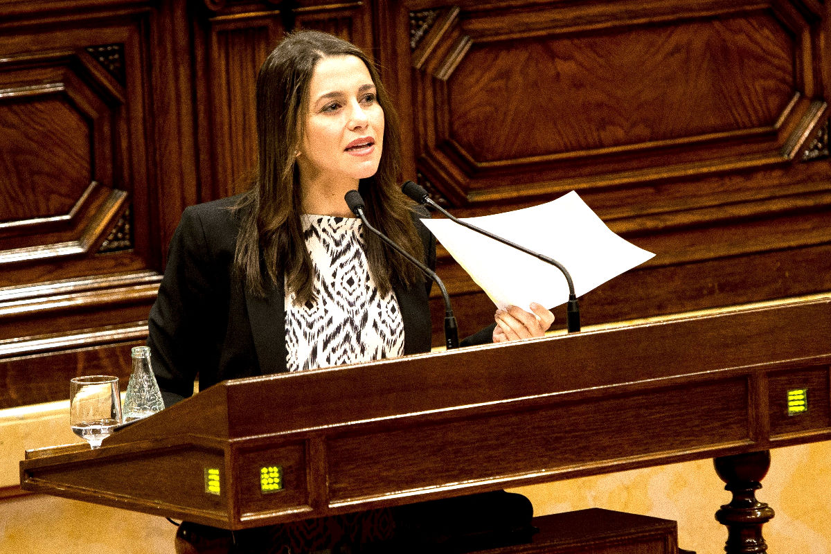 Inés Arrimadas en el Parlament de Cataluña. (FOTO:Gettyimages)