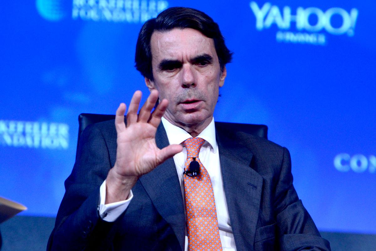 José María Aznar en un acto (FOTO:gettyimages)
