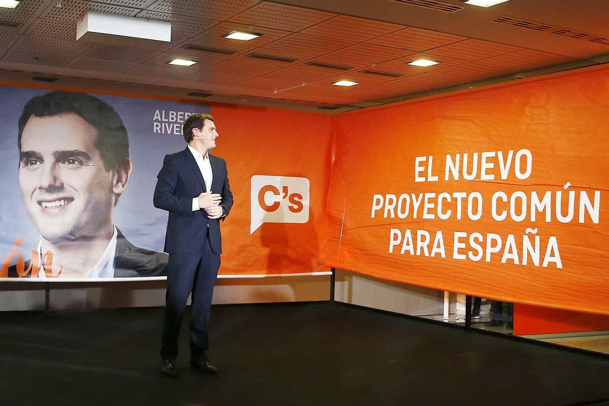 Albert Rivera en el acto de apertura de campaña en Madrid. (Foto: EFE)
