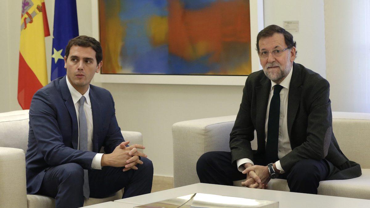 Albert Rivera y Mariano Rajoy, durante una reunión pasada. (Foto: EFE)