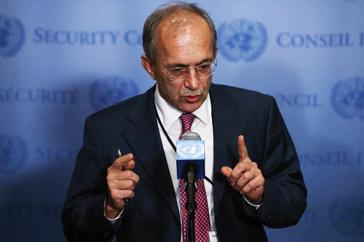 El representante turco se explica ante la ONU (Foto: Getty)