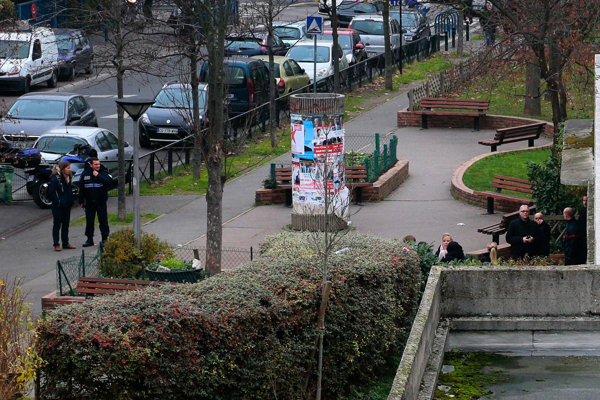 Colegio de Aubervilliers afectado por el ataque. (Foto: AFP)