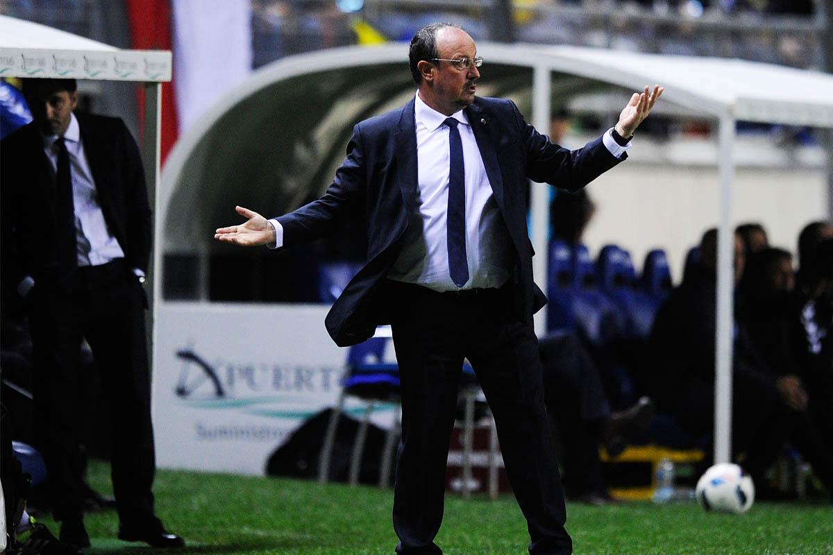 Rafa Benítez, durante la visita del Real Madrid a Cádiz (Foto: Getty)