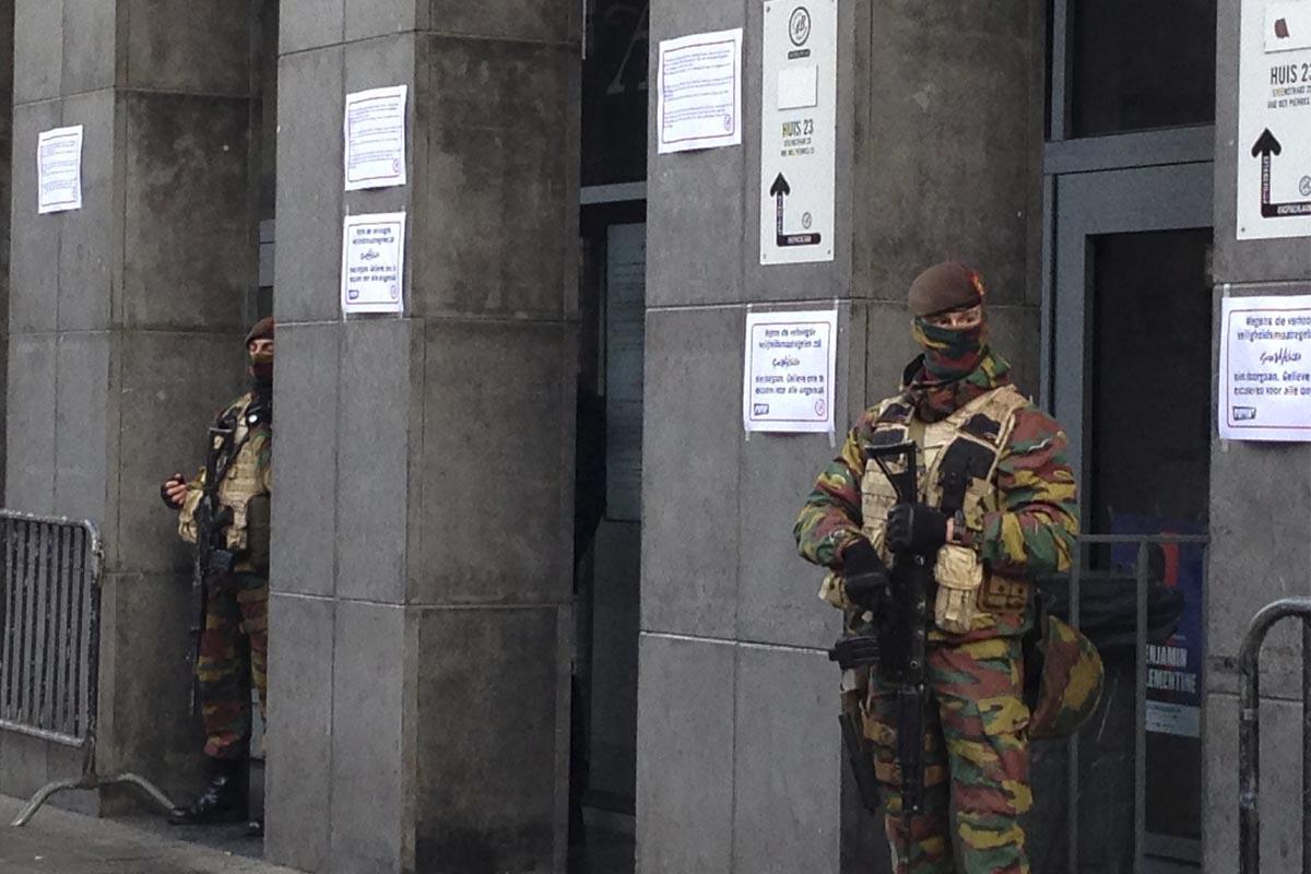 Una de las mucha detenciones de las últimas semanas en Bruselas (Foto: Fernán González)