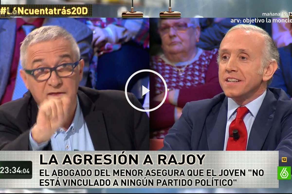 Javier Sardá y Eduardo Inda, durante su intervención en La Sexta Noche
