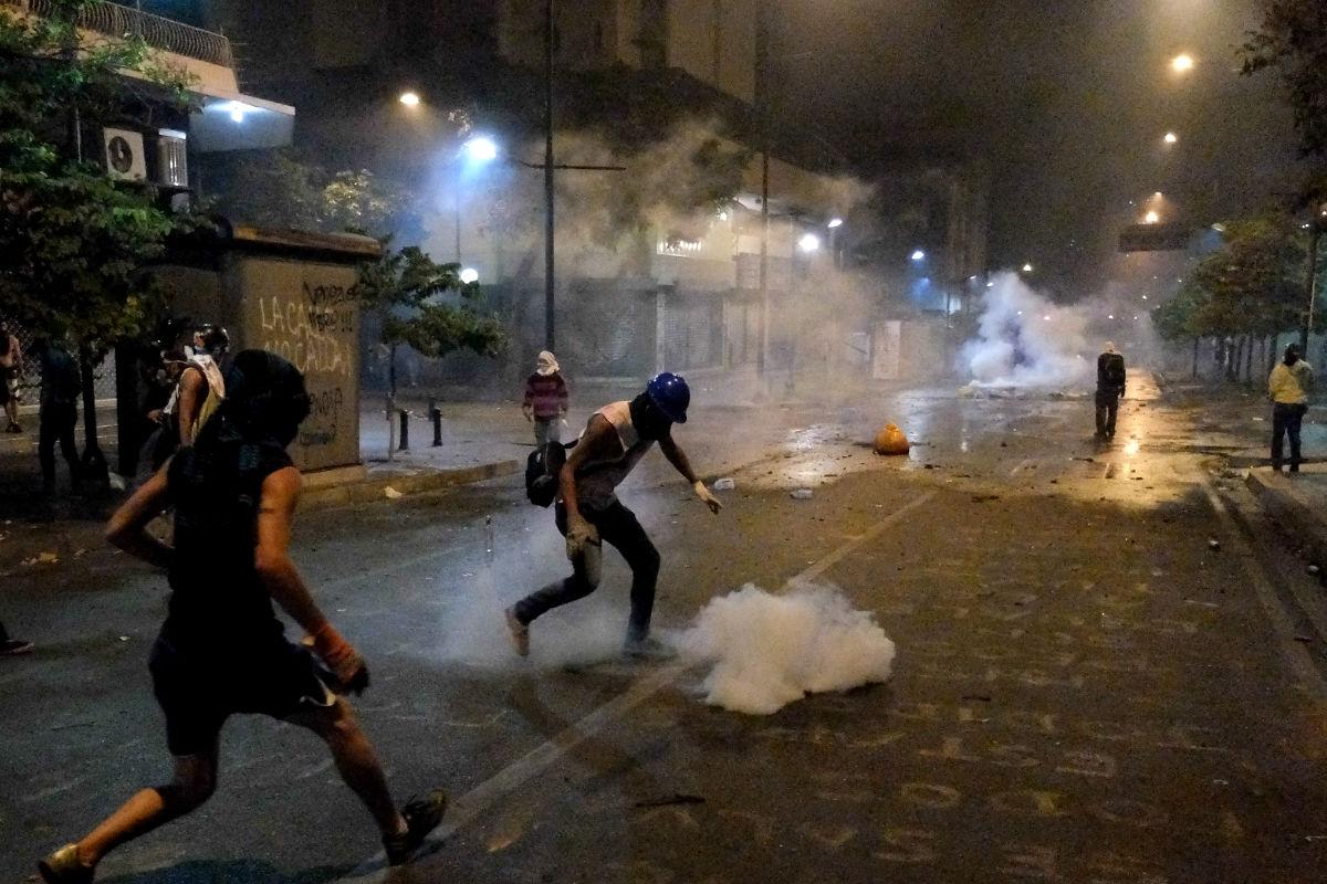 Una imagen de una protesta en las calles de Caracas. (Foto: Getty)