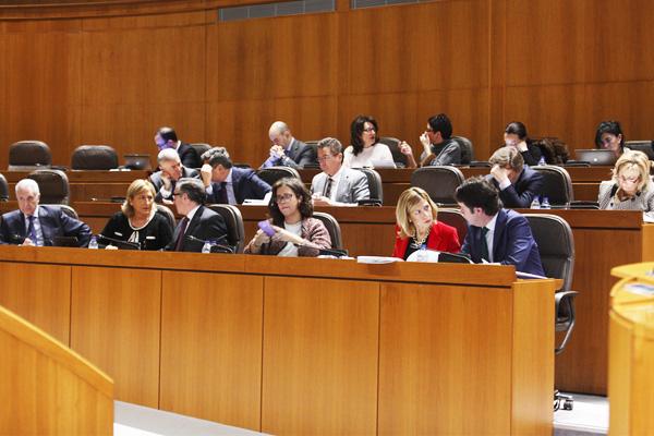 Sesión de hoy en las Cortes aragonesas. (Foto: Cortes de Aragón)