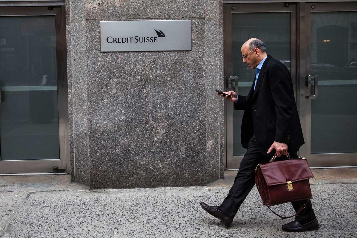 Fachada de una sucursal de Credit Suisse. (Foto: Getty)