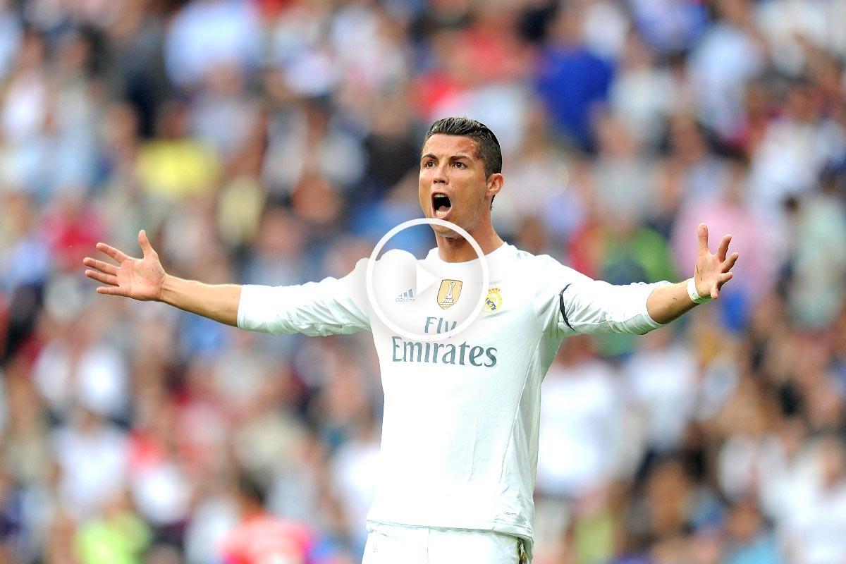 Cristiano, durante un encuentro en el Bernabéu (Getty)