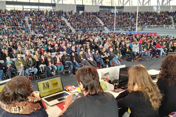 Vista panorámica de la asamblea celebrada por la CUP. (Foto: CUP)
