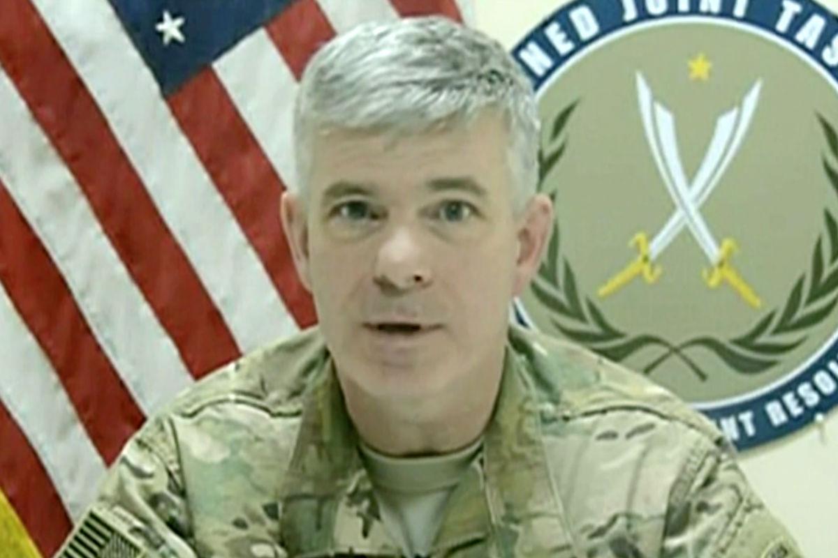 El portavoz de la operación militar norteamericana, Col Steve Warren, que ha dado la noticia de la muerte de uno de los líderes del Daesh.