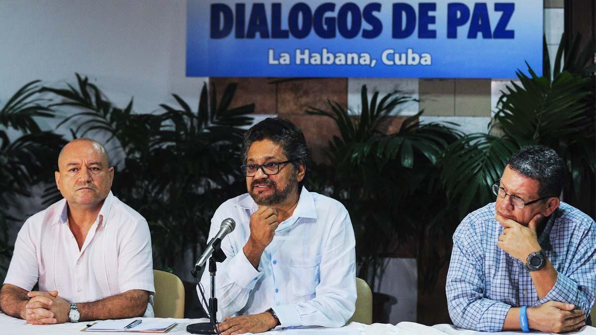 Negociadores de las FARC en La Habana. (Foto: AFP)