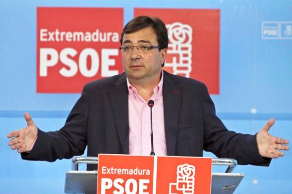 El presidente de la Junta de Extremadura, Guillermo Fernández Vara. (Foto: PSOE)