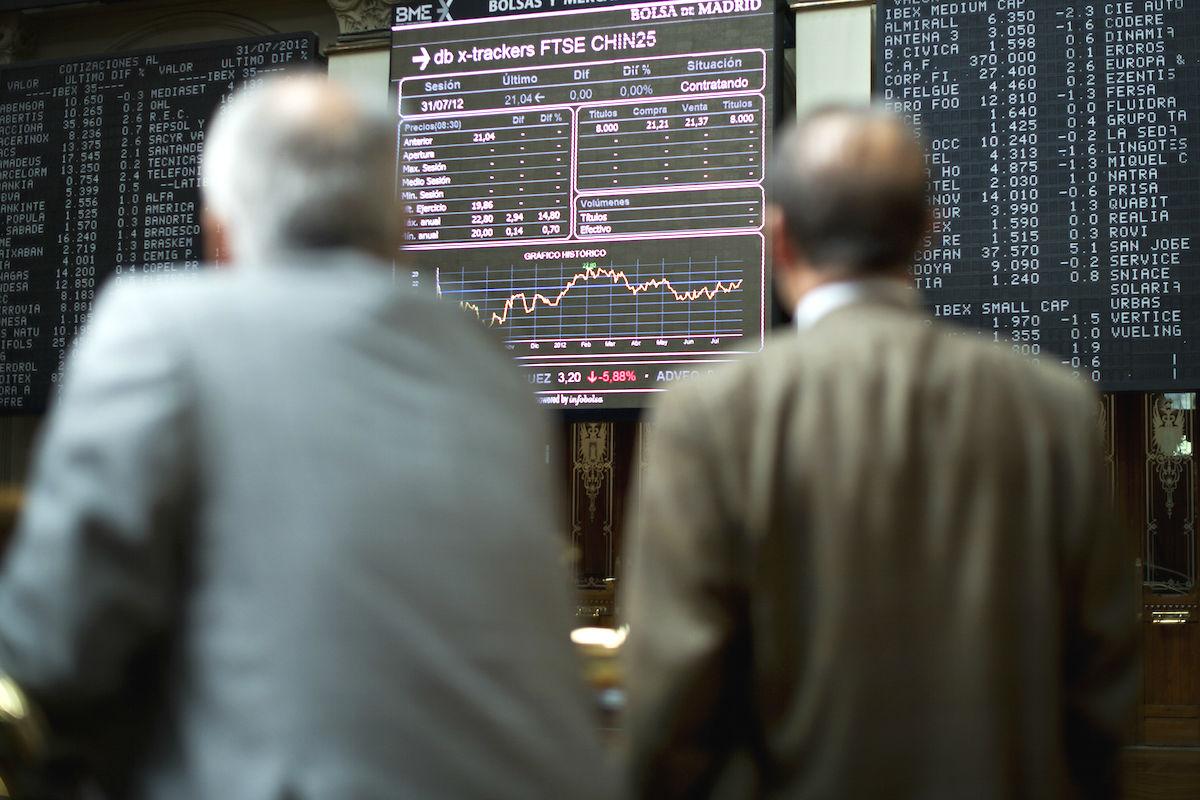 Imagen de la Bolsa de Madrid (Foto: GETTY)