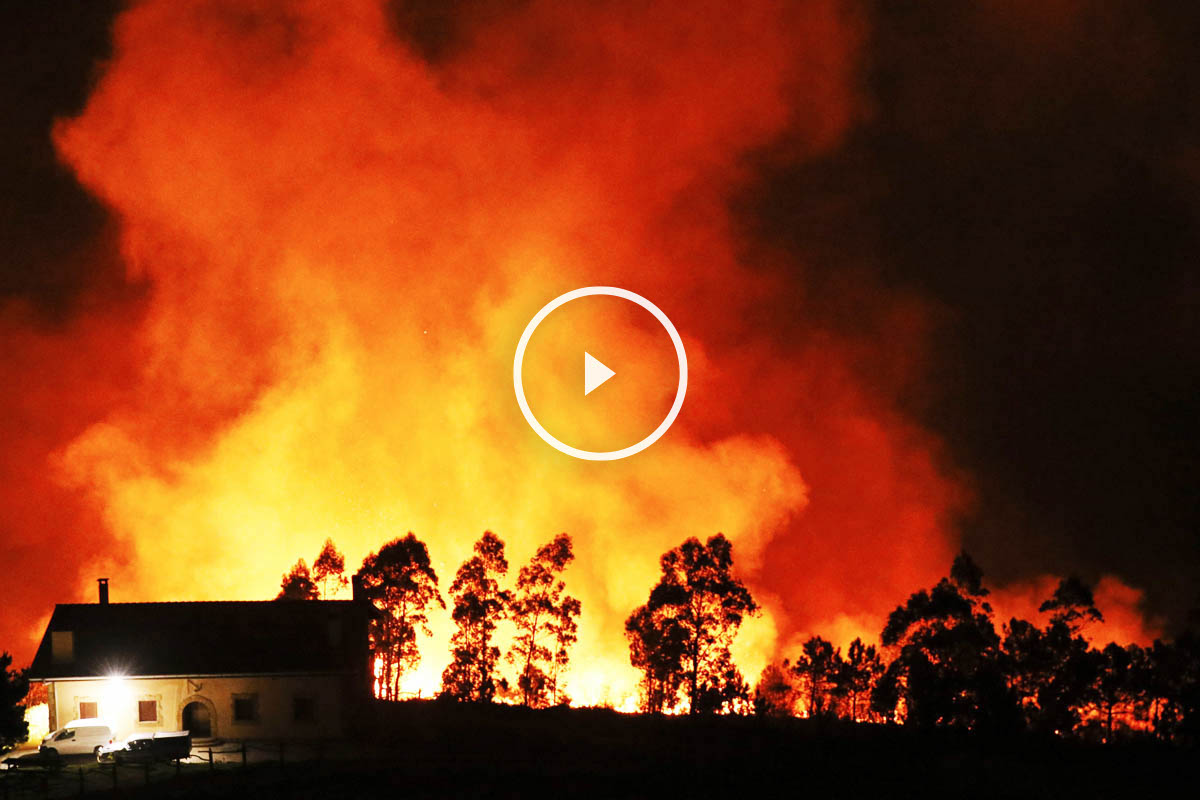 Intensos incendios en Asturias (Foto: EFE)