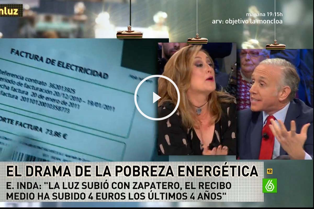 Los periodistas Elisa Beni y Eduardo Inda, en La Sexta Noche