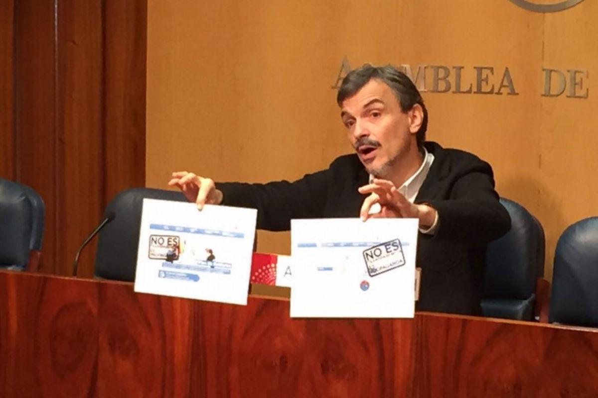 José Manuel López, portavoz de Podemos en la Asamblea en imagen de archivo. (Foto: Agencias)