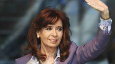 Cristina Kirchner durante un acto de campaña. (Foto: AFP)