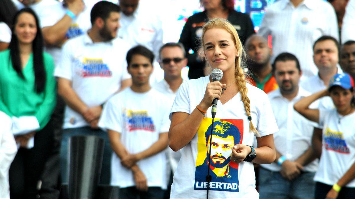 Lilian Tintori en un acto reivindicativo contra el Gobierno de Nicolás Maduro. (FOTO:Gettyimages)