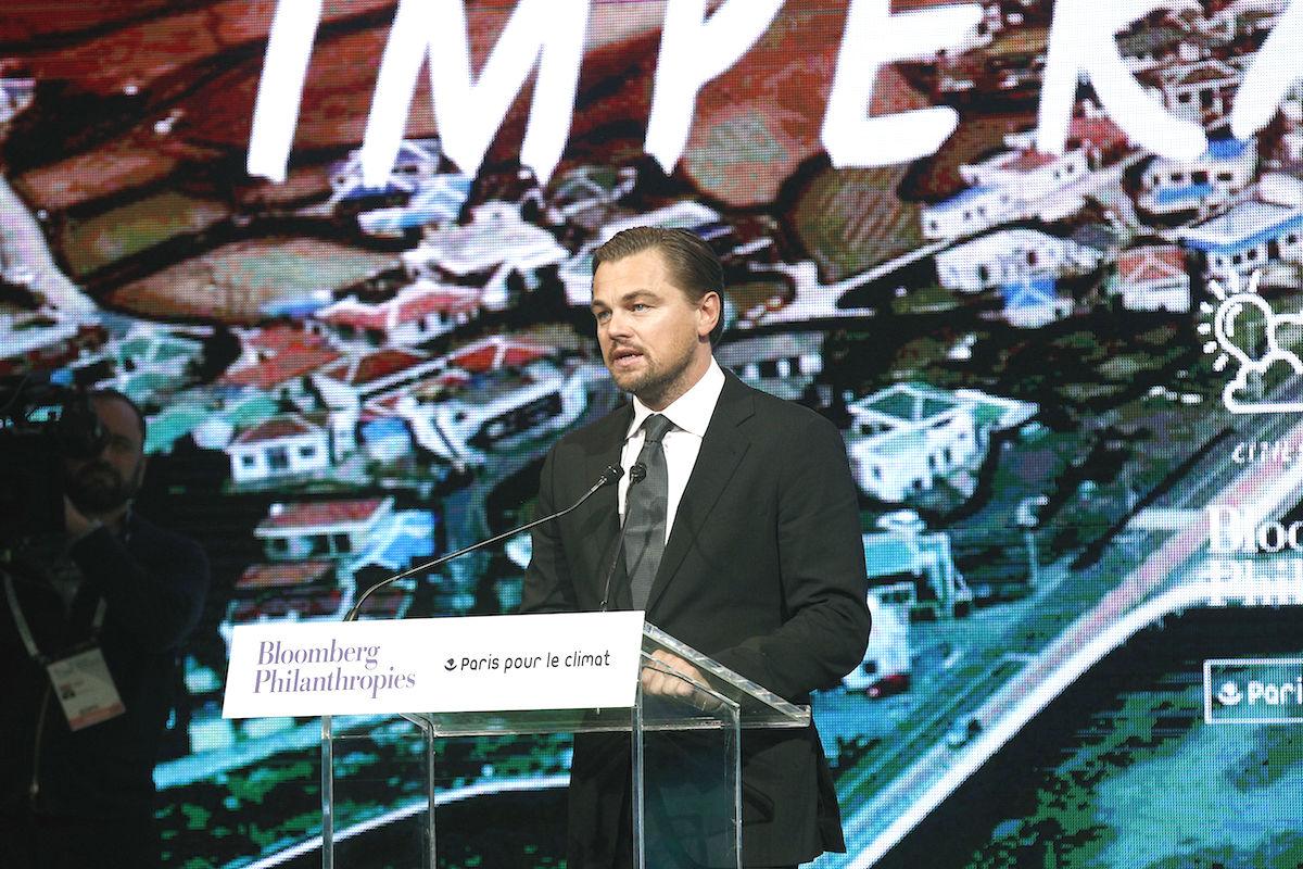 Leonardo di Caprio en la Cumbre de París por el clima (Foto: GETTY)