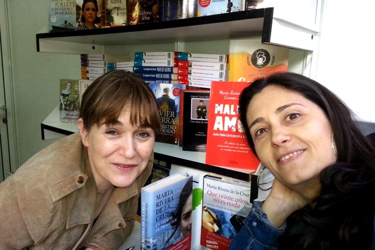 Marta Rivera de la Cruz en la Feria del Libro