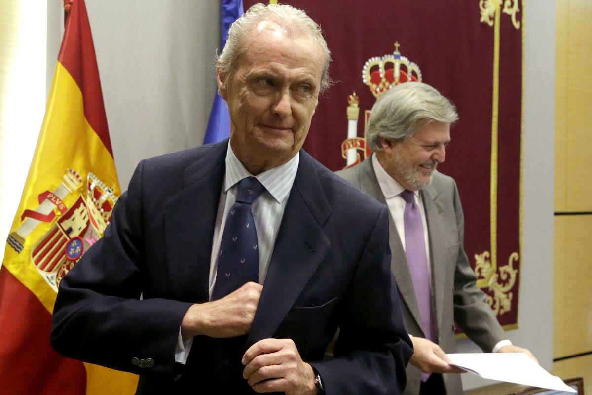 El ministro de DEfensa, Pedro Morenés en un acto oficial. (FOTO: EFE)