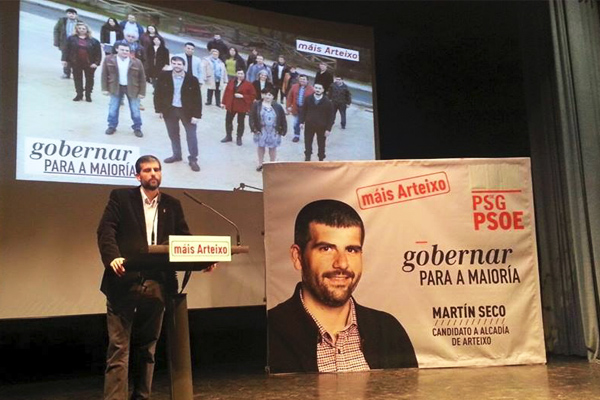 Martín Seco, portavoz del PSOE en Arteixo. (Foto: PSOE Arteixo)