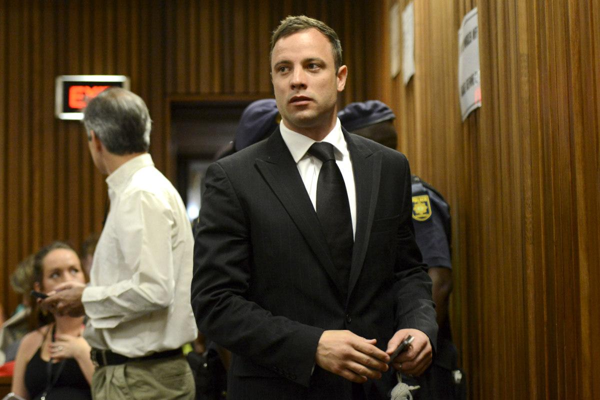 Oscar Pistorius, en su juicio en 2014.