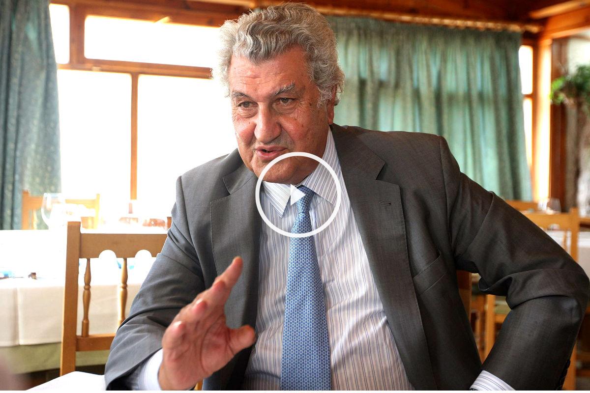 Jesús Posada durante una entrevista en soria. (EFE)