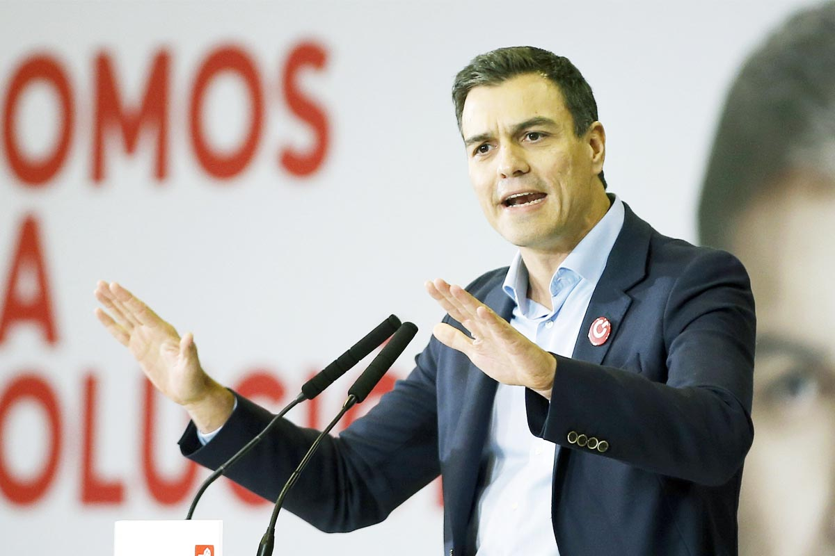 Pedro Sánchez, en un acto de campaña del PSOE (Foto: EFE)
