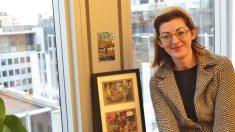 La eurodiputada Maite Pagaza en su despacho en Bruselas. (Foto: Fernán González)