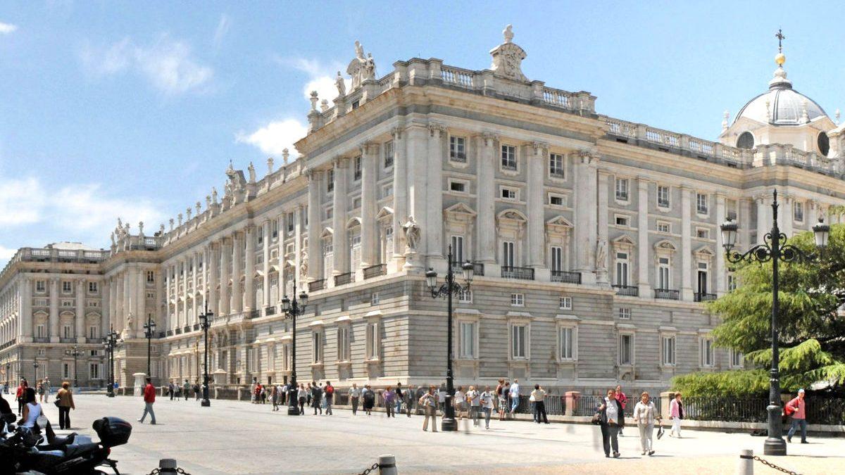 El Palacio Real de Madrid, situado en la Plaza de Oriente