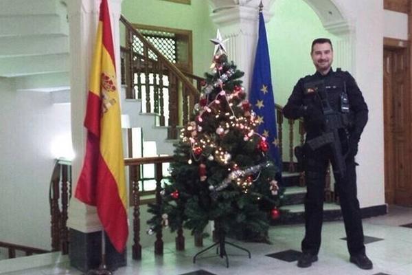 Isidro Gabino San Martín Hernández, el policía fallecido por un ataque terrorista en Kabul
