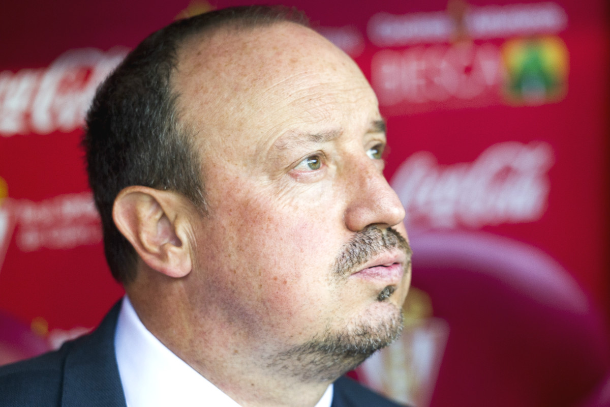 Rafa Benítez, en un partido con el Real Madrid. (Getty)