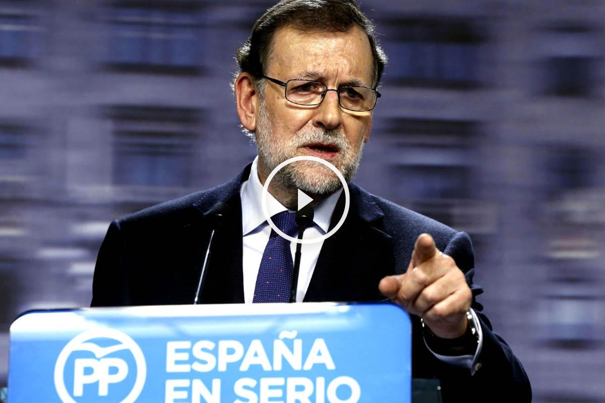 Mariano Rajoy en la rueda de prensa posterior al Comité Ejecutivo del PP. (FOTO: EFE)
