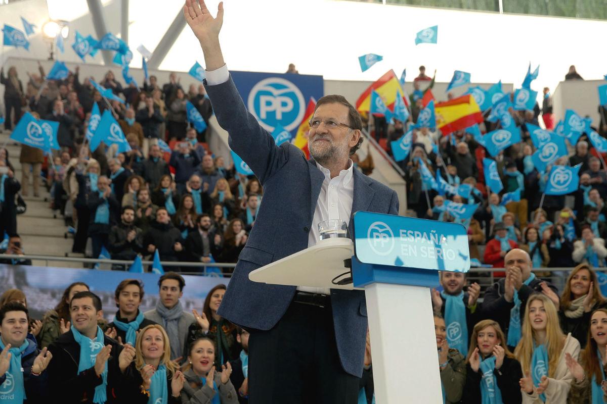 Mariano Rajoy en el acto celebrado en la localidad madrileña de Las Rozas. (Foto: EFE)