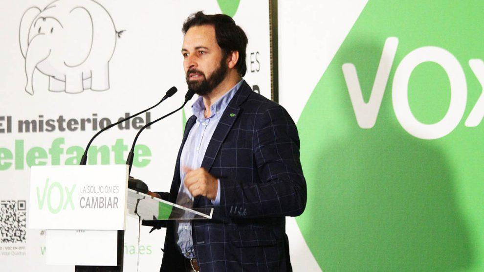 Santiago Abascal, presidente de VOX.