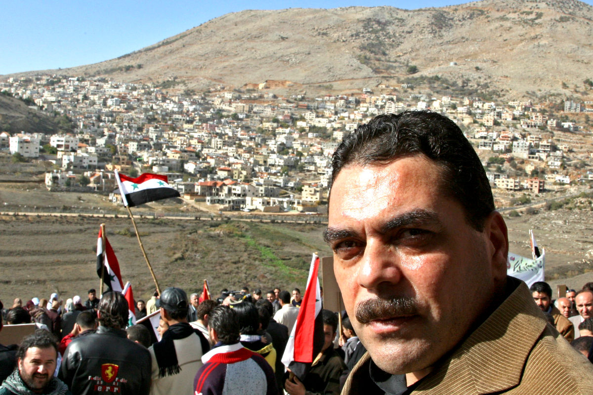 El libanés Samir Kuntar en un rally celebrado en Siria. (Foto: Reuters)