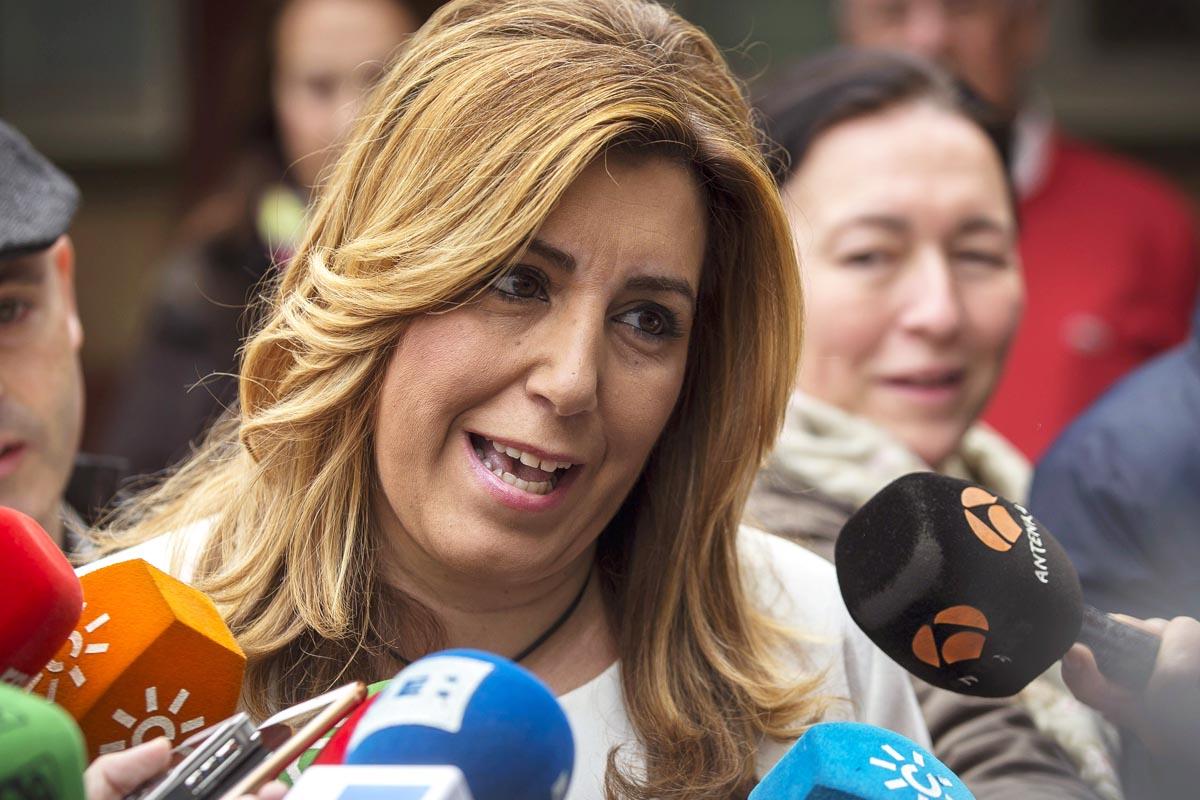 Susana Díaz, después de votar el 20D (Foto: EFE)