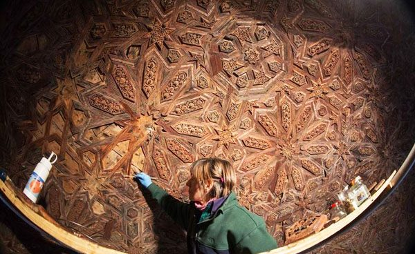 Hallan nuevos dibujos nazaríes en la Alhambra de Granada