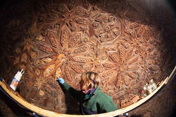 Imagen del descubrimiento en el Templete de los Leones (Foto: EP)