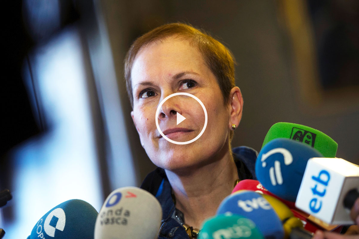 Uxue Barkos, presidenta de Navarra. (Foto: EFE)