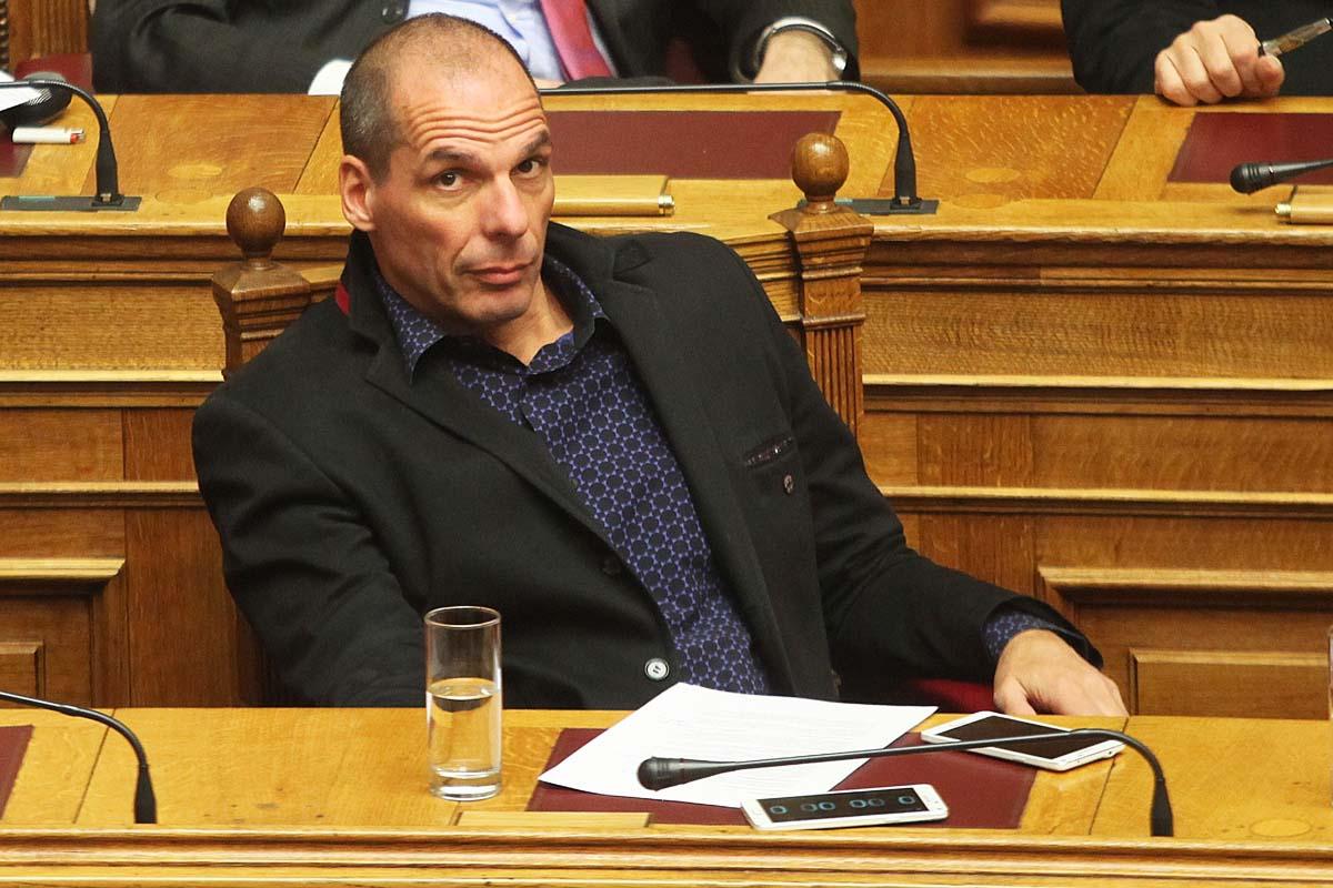 Yanis Varoufakis en el parlamento Griego. (Foto: Getty)