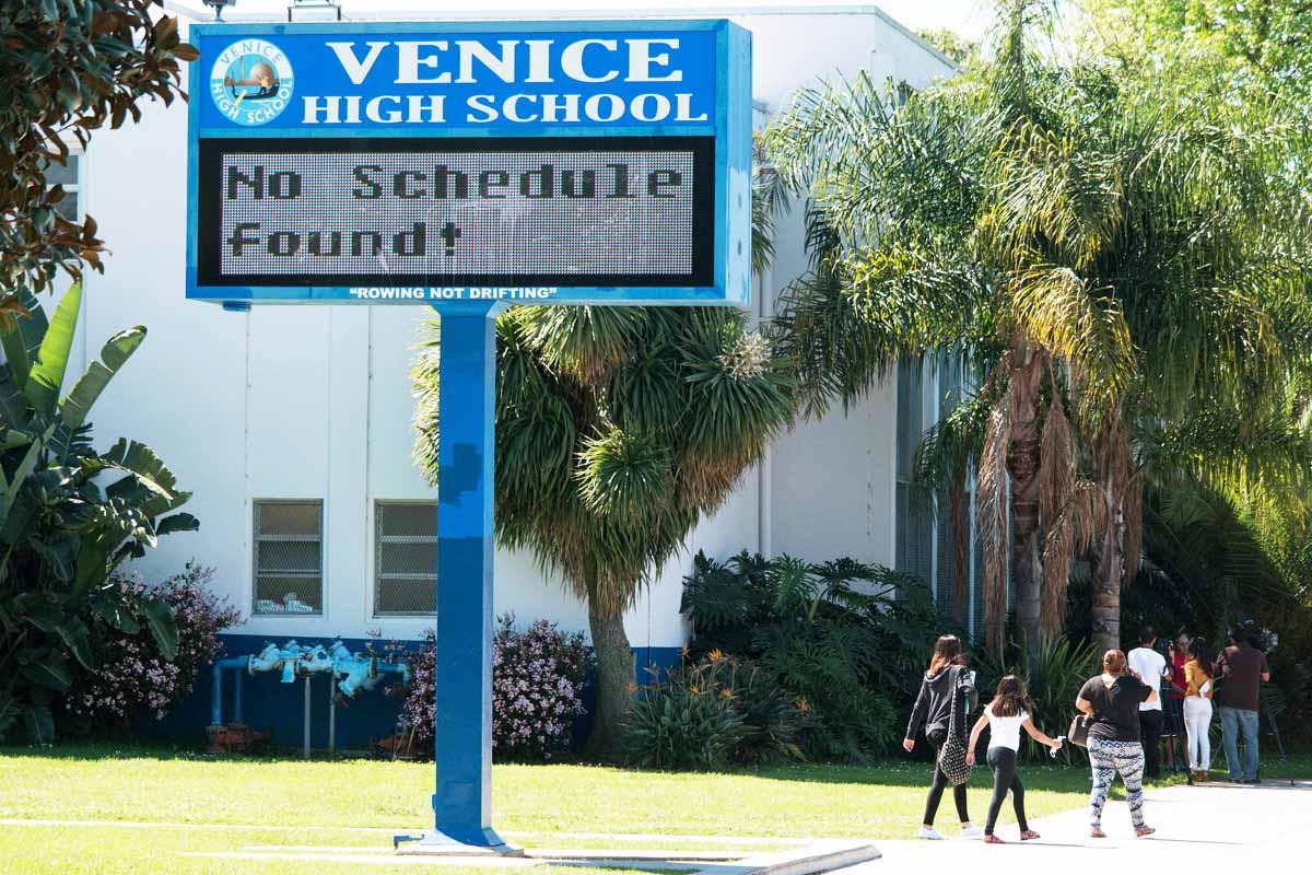 Sin actividad en las escuelas de Los Ángeles (Foto: Reuters)
